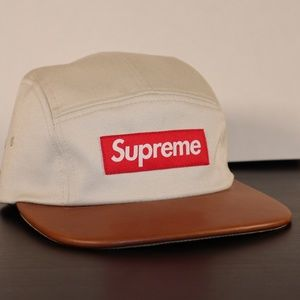 Supreme Expedition Leather Visor Camp Cap Stone